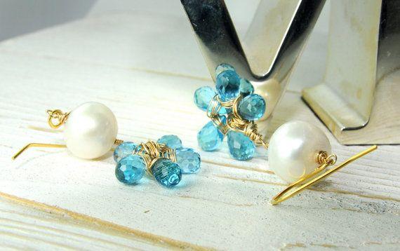 Earrings Flower Earrings Bridal Jewelry by LillyputLaneDesignCo, $228.00