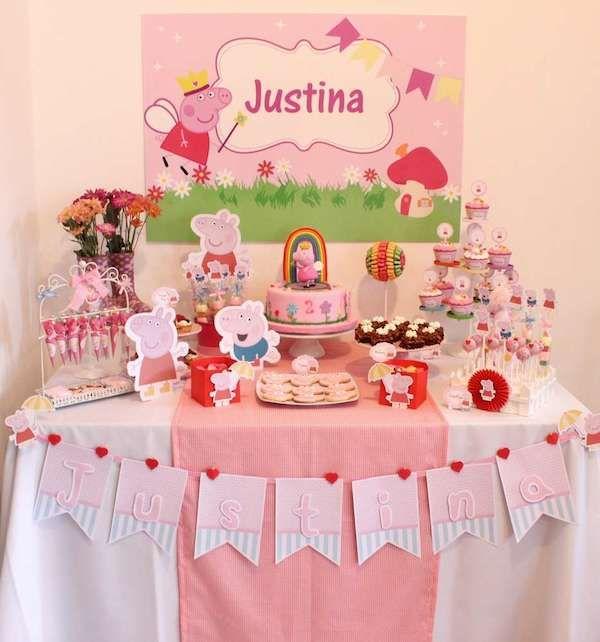 Ideas para fiestas infantiles de peppa pig pig party for Glace decoration