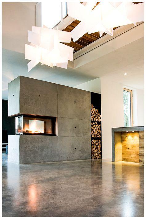 Beton ist modern, aber kalt - nein! Nicht mit einem BRUNNER Panorama