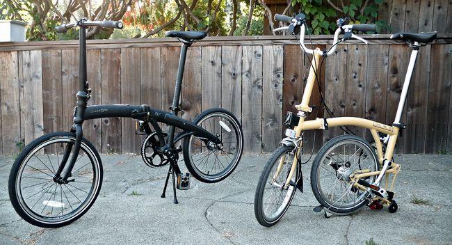 Gear Gallery Dahon Vs Brompton A Folding Bike Comparison