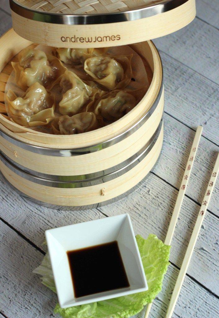 Dim Sum Im Bambus Dampfer Asian Food Dim Sum Dumplings Und