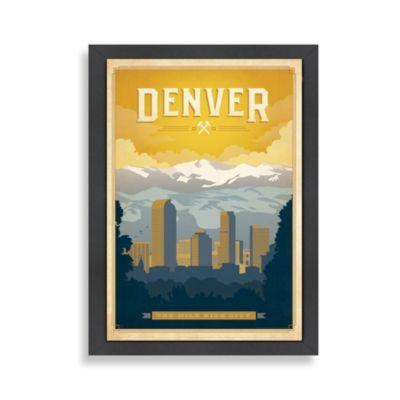 Americanflat Denver Framed Wall Art Multi Framed Wall Art Gallery Wrap Canvas Anderson Design Group