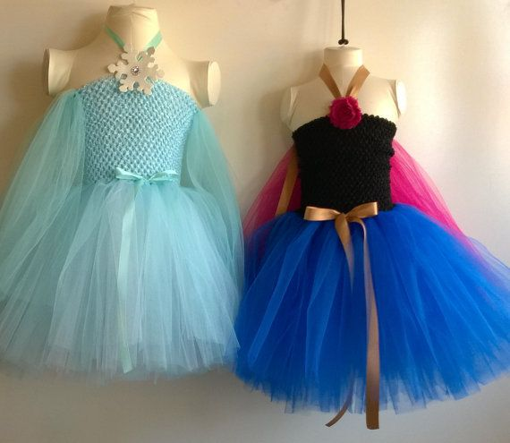 Frozen inspired princess anna tutu dress birthday by for Diy party dress