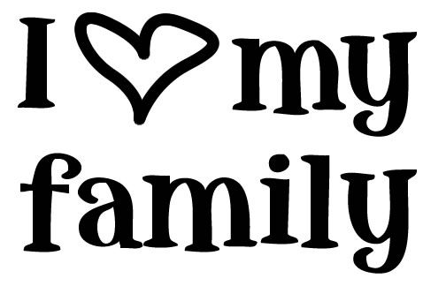 25+ Cute Family Saying Clipart