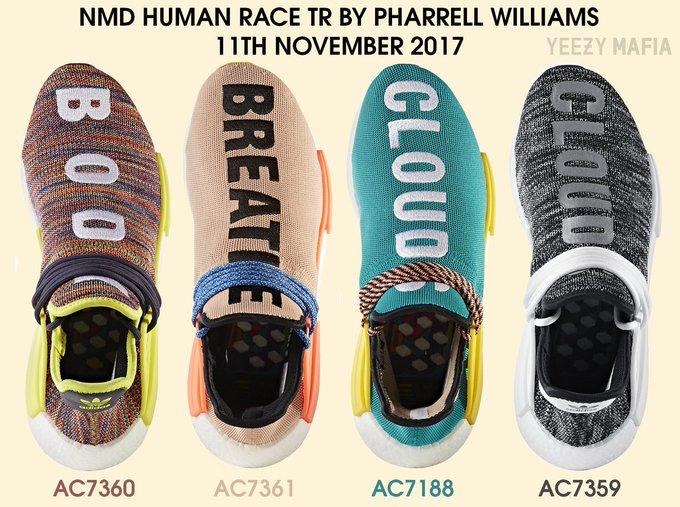 pharrell x adidas nmd hu traccia data di rilascio: l '11 novembre, 2017