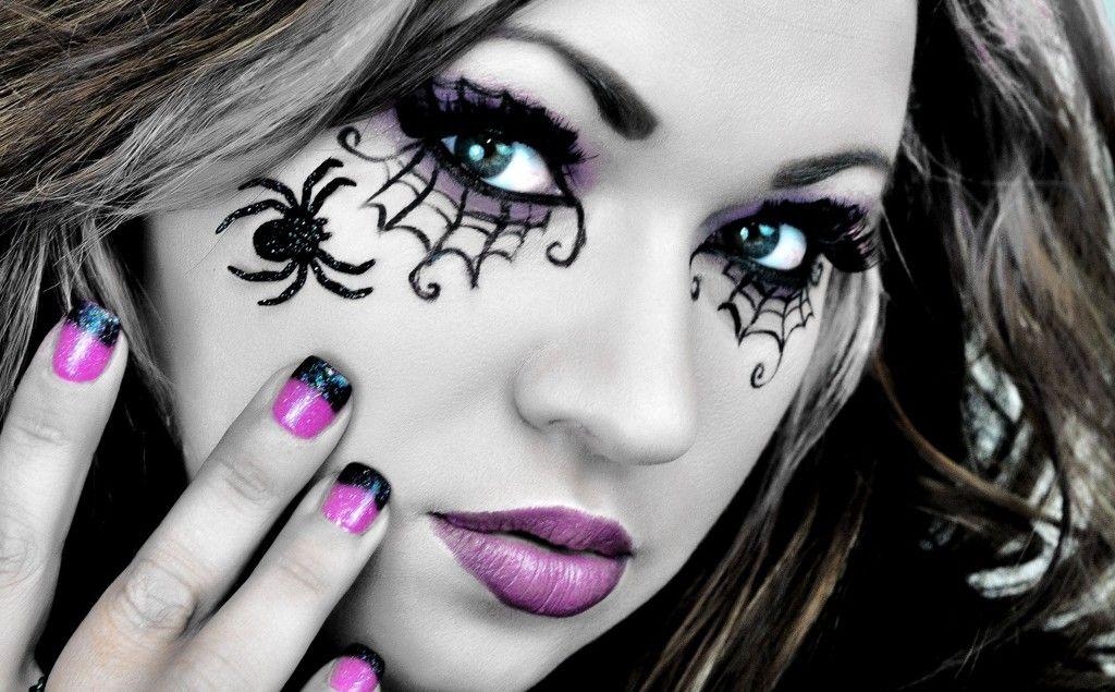Halloween eye makeup ideas Halloween eye makeup, Spider