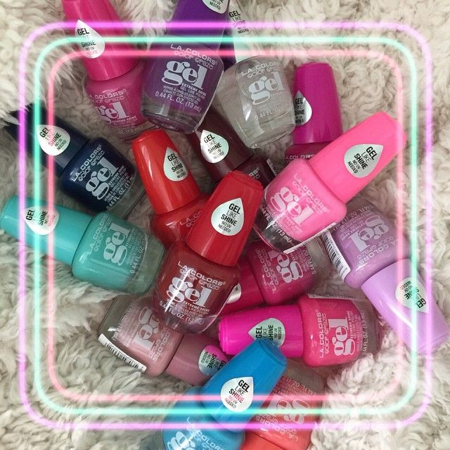 L A Color Gel Nail Polishes Find At Family Dollar Love These Colorful Nail Designs Gel Nail Polish Gel Nails