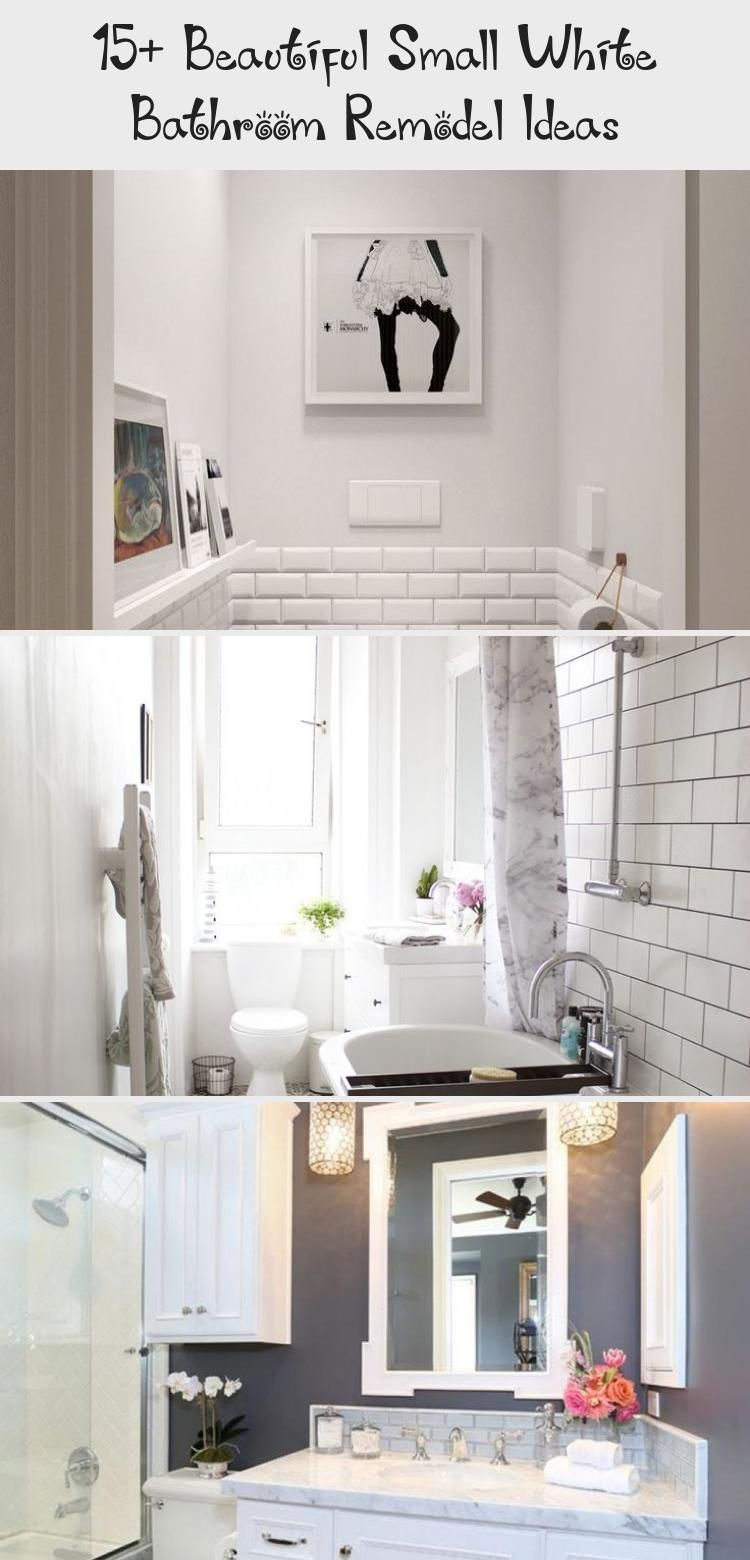 15 beautiful small white bathroom remodel ideas on bathroom renovation ideas white id=20142