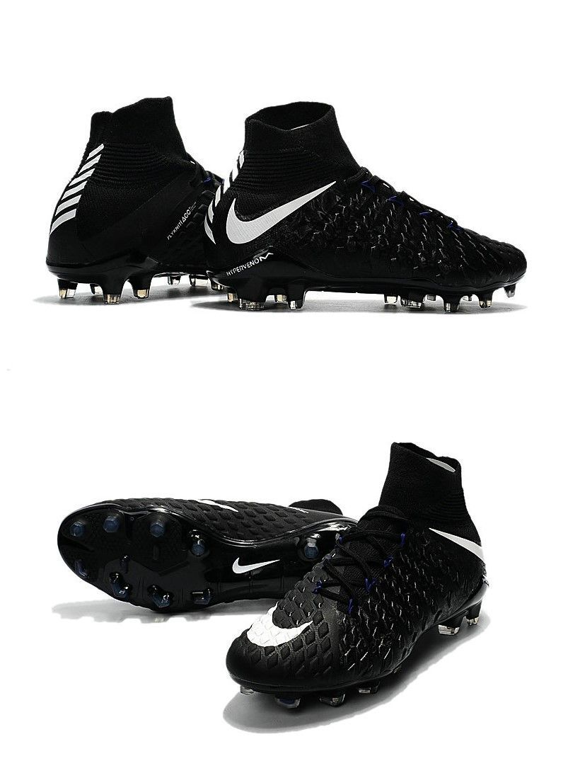 fd1c7ee27163 The black Hypervenom 3 upper features a biomorphic texture to help ensure  that you have total control over the ball.  SoccerKiller