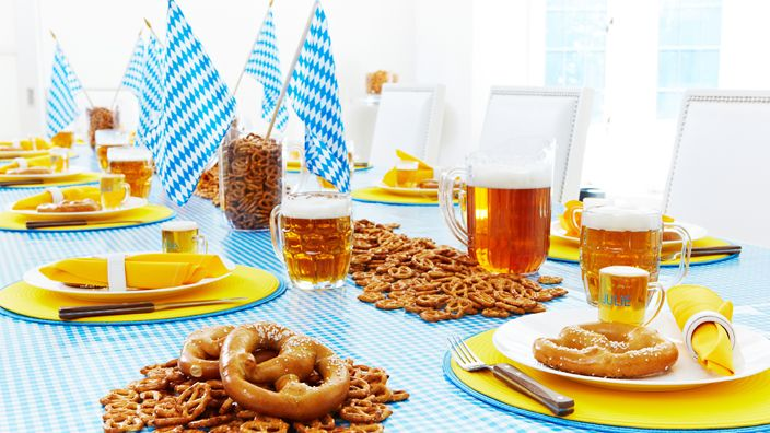 Oktoberfest Party Ideen tischDekoration