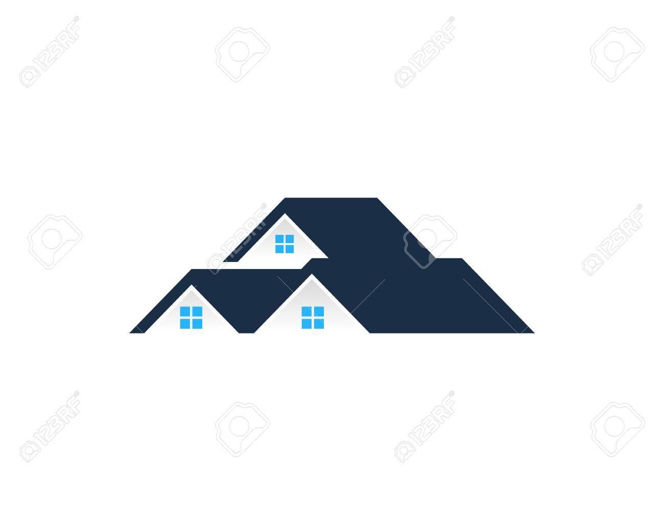 Real Estate Icon Design Element