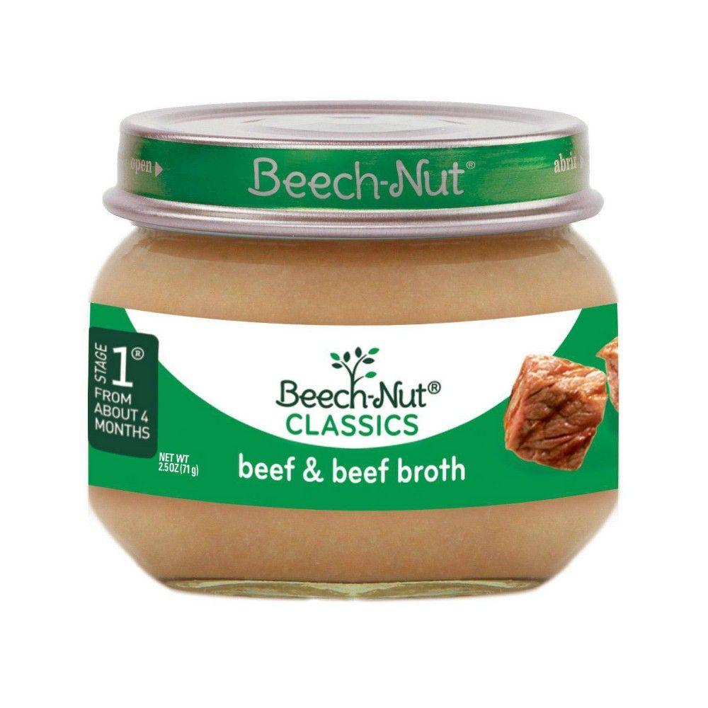 Beech-Nut Beef & Beef Broth Baby Food Jar - 2.5oz in 2020 ...