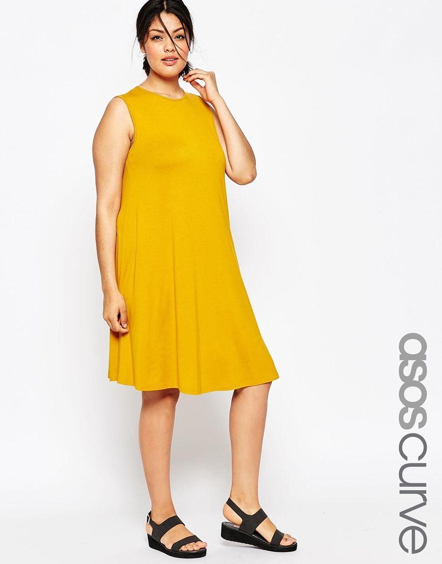 ASOS CURVE Sleeveless Swing Dress   Fashion: Wishlist   Pinterest ...