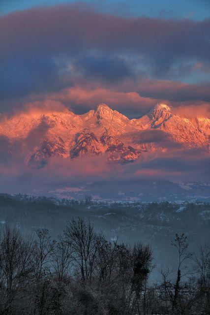 Alpago al tramonto, Italy Belluno Veneto