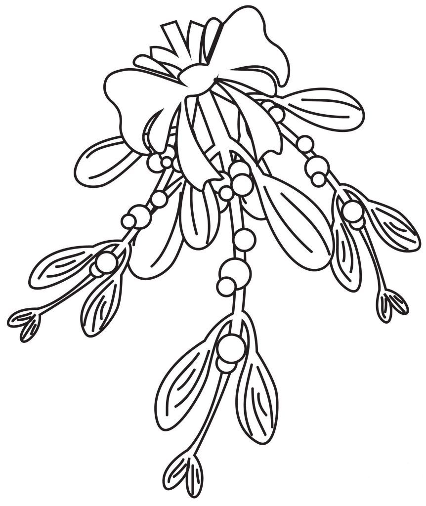 Mistletoe Coloring Pages Best Coloring Pages For Kids Christmas Coloring Pages Free Christmas Coloring Pages Printable Christmas Coloring Pages