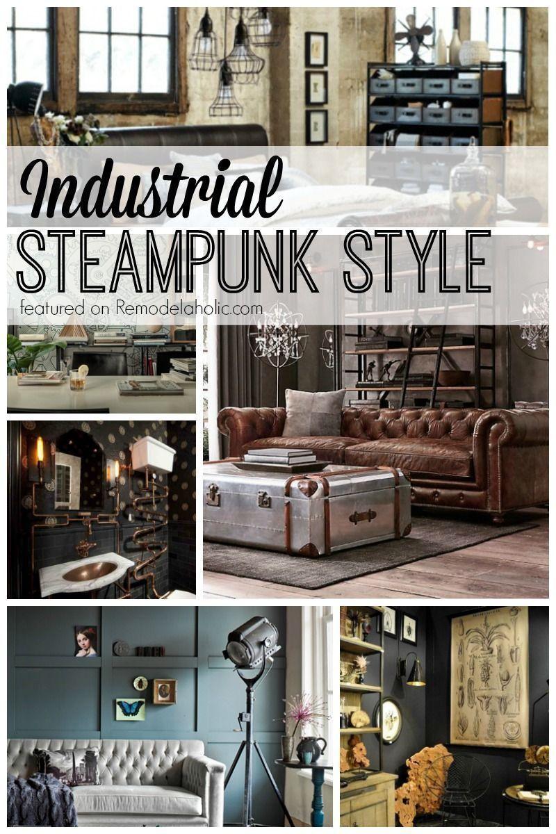 10+ Stunning Steampunk Living Room Decor
