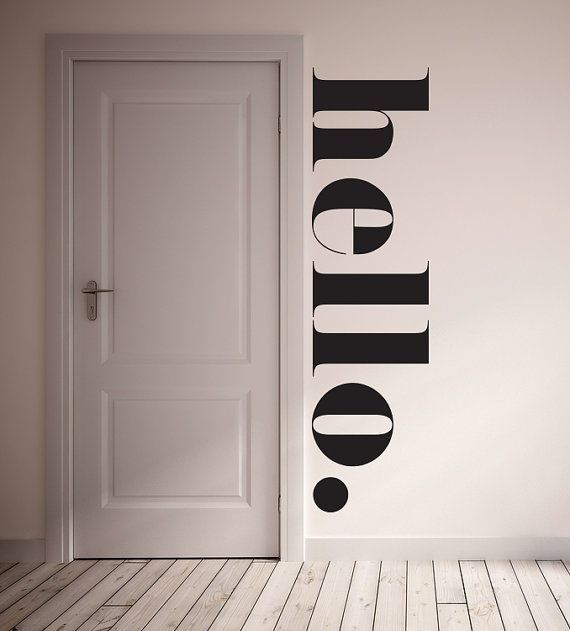 Wall decal hello wall sticker room decor for Farbmuster wandgestaltung