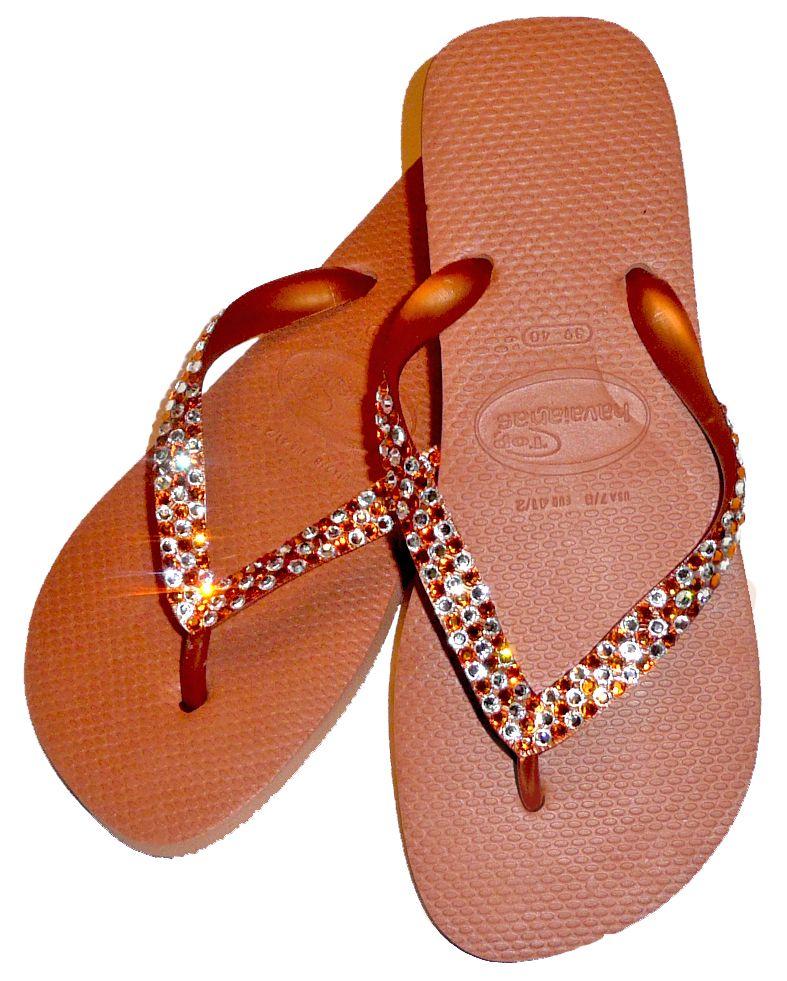d403253132d2ef Crystal Flip Flops ~ Swarovski Crystal Havaianas Flip Flops - Anna Maxin