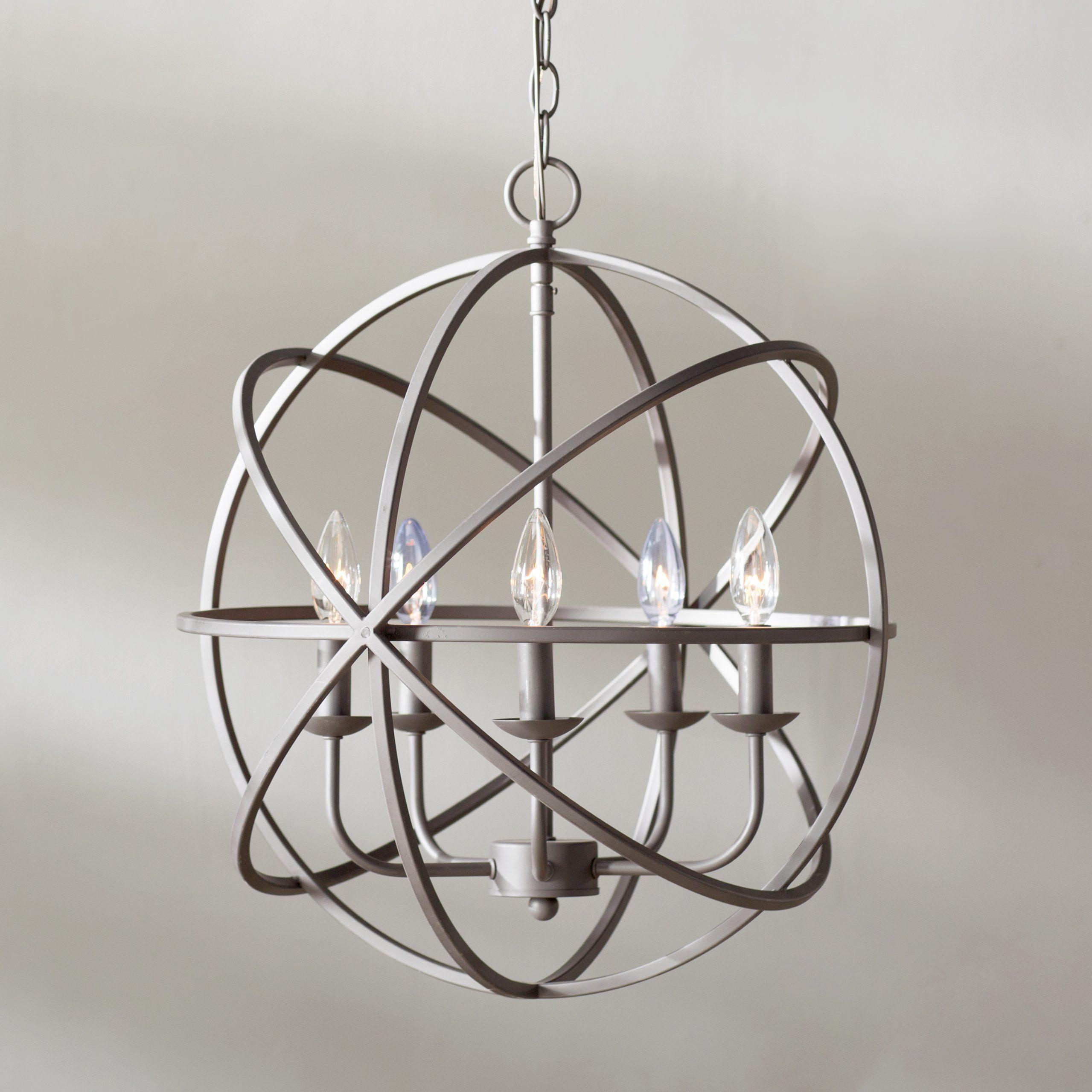 Hankinson 5Light Candle Style Globe Chandelier