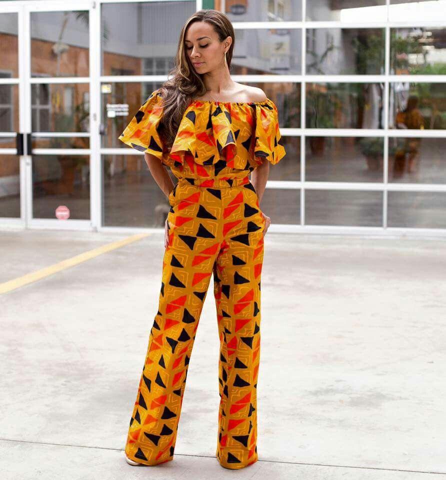 pingl sur jumpsuit en 2018 pinterest mode africaine africaine et tenue africaine. Black Bedroom Furniture Sets. Home Design Ideas