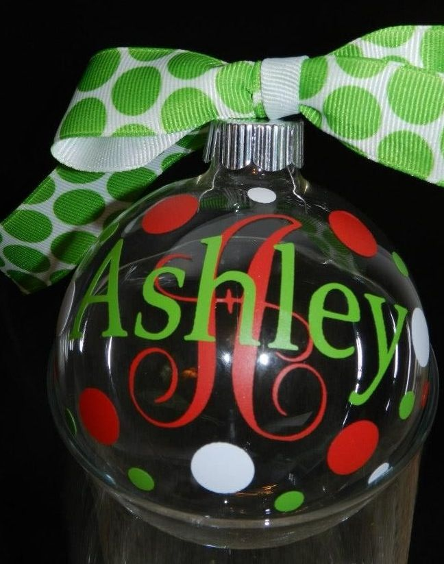 Personalized Christmas Ornaments...$8 ea. Find me on ...