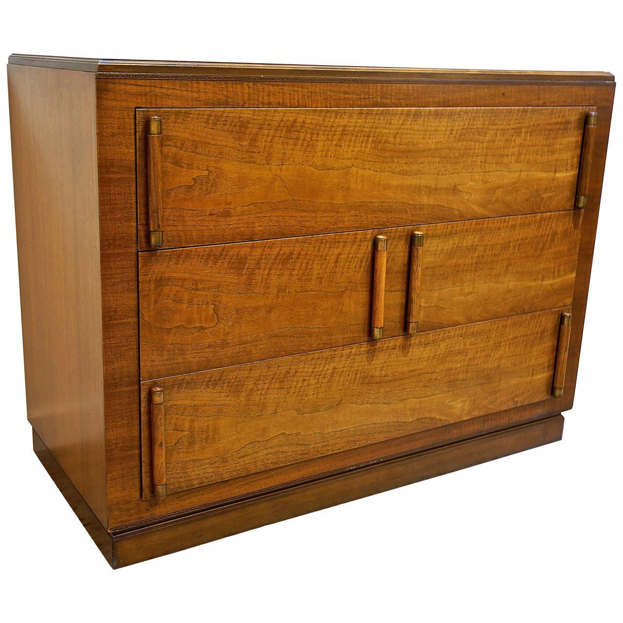 First floor powder vanity inspiration- eliminate 3rd drawer for hollow space  American Art Deco Mahogany Chest of Drawers | From a unique collection of antique and modern dressers at https://www.1stdibs.com/furniture/storage-case-pieces/dressers/