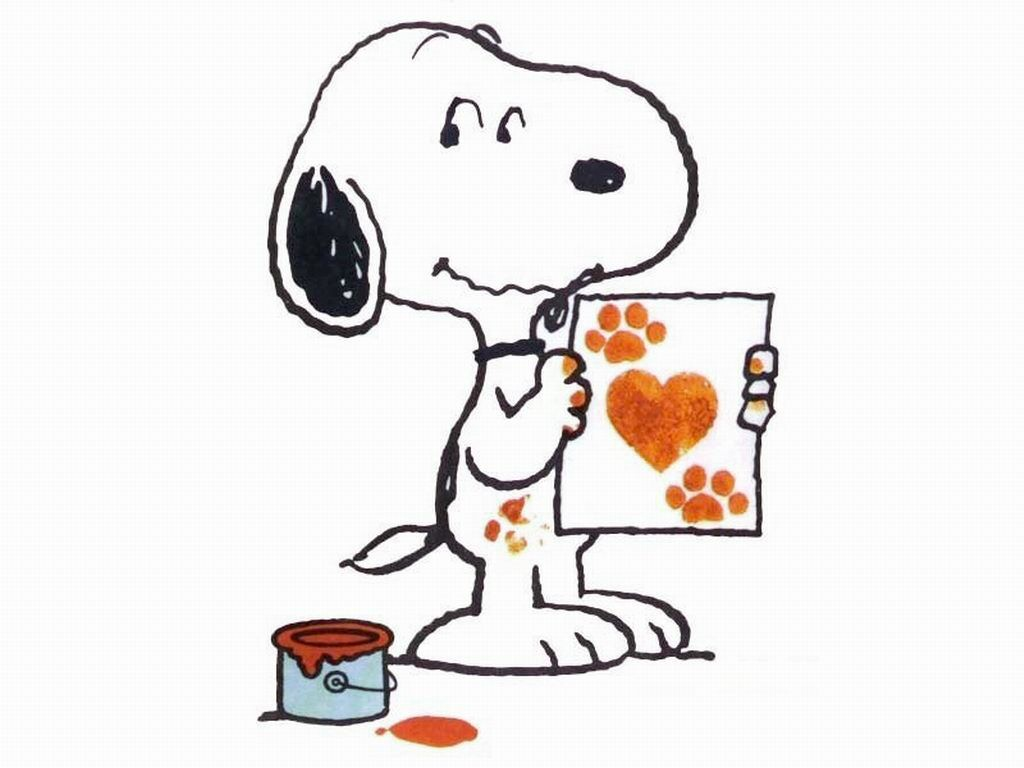 """""""I Made This"""", Snoopy and his Paw Prints."""