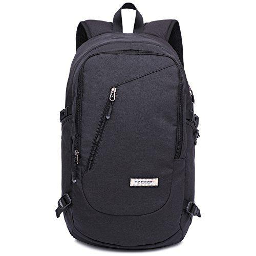 Men/'s Canvas Backpack Laptop USB Rucksack School Outdoor Bag with USB Port Bag
