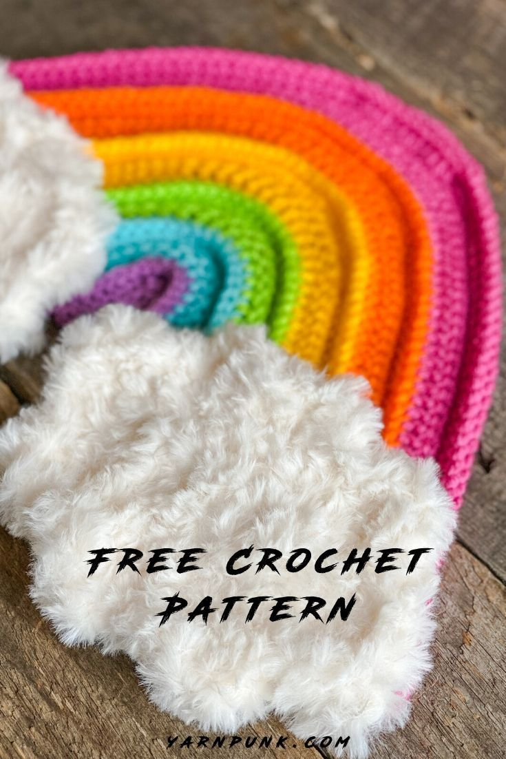 Free Crochet Rainbow Wall Hanging Pattern -   21 knitting and crochet Free Patterns kids ideas