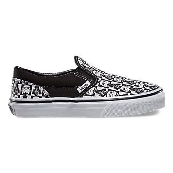 878a0be5d5 Kids Star Wars Storm Trooper Slip-On Vans made in a many sizes ...