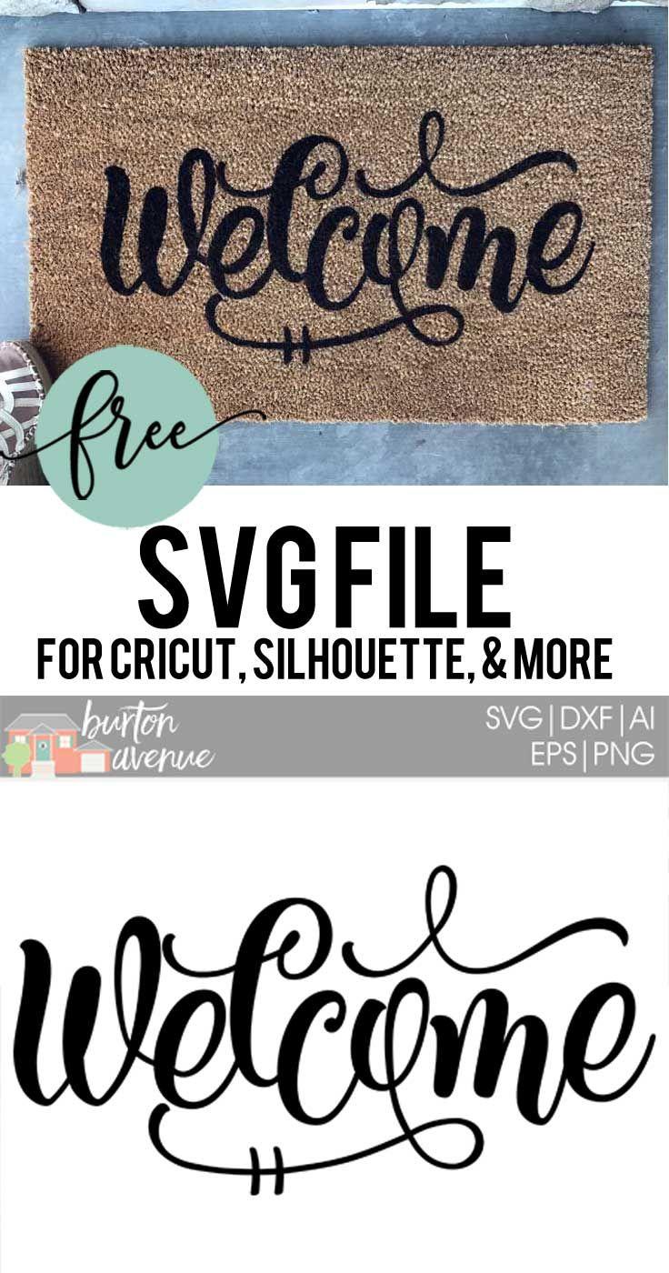 How to stencil a door mat svg file cricut and doormat