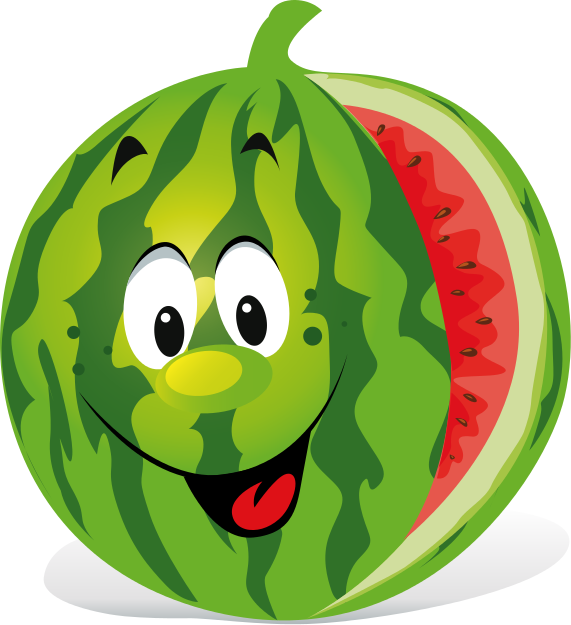 Cartoon watermelon #obstgemüse