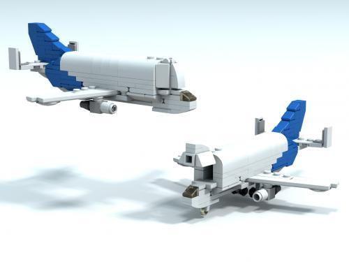 airbus beluga microjet legos