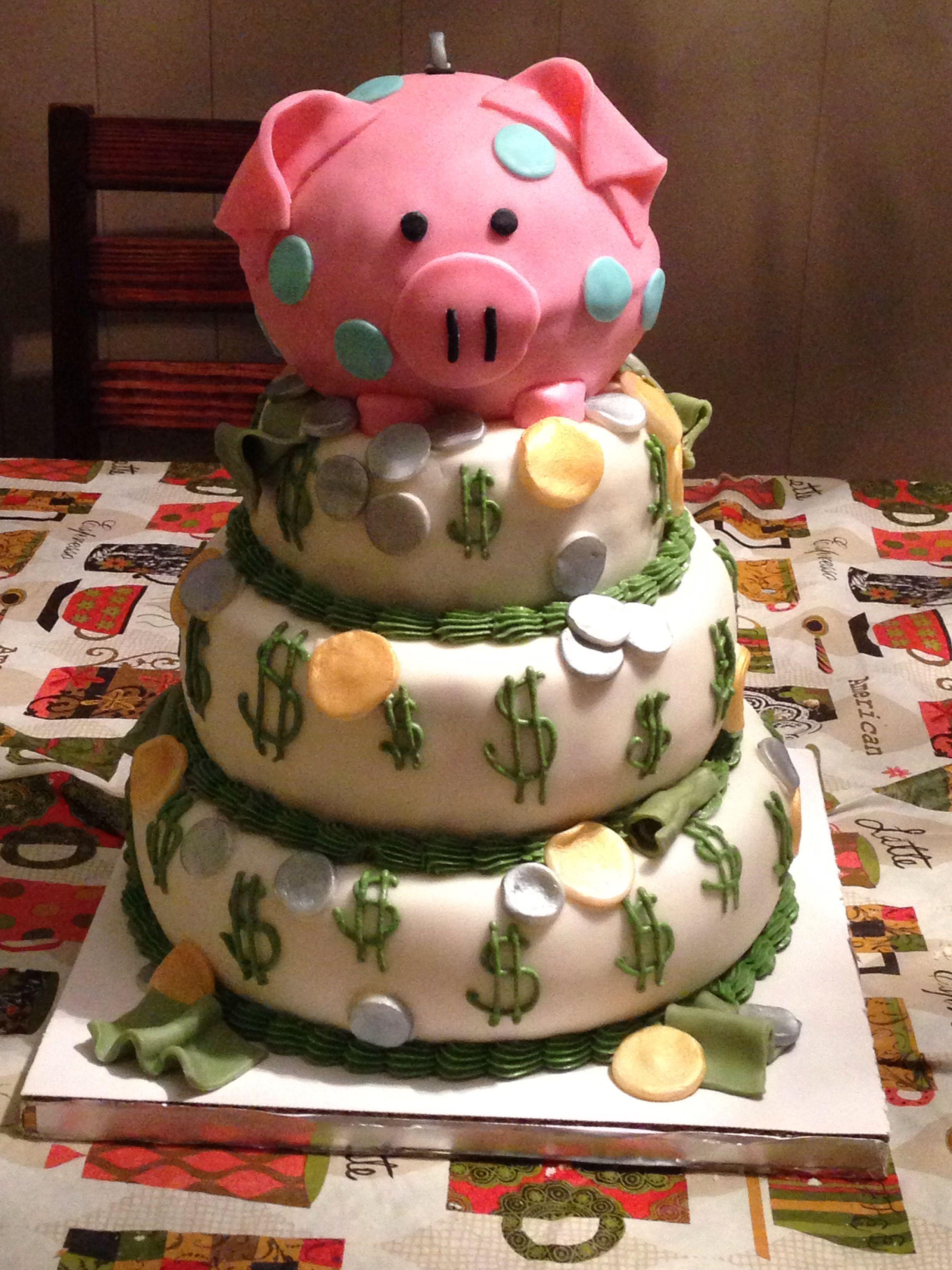 Piggy Bank Cake Retirement Party Planning Pinterest Piggy