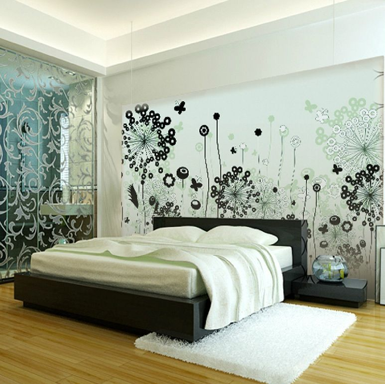 Beautiful Oriental Wall Decals Black And White Contemporary - Wall decals room ideas