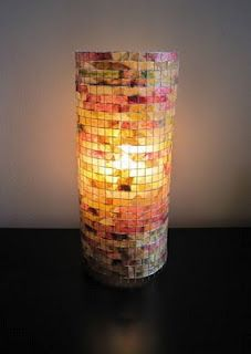 DIY: Easy Lampada Lighting cage wire & recycled or dyed coffee filters!