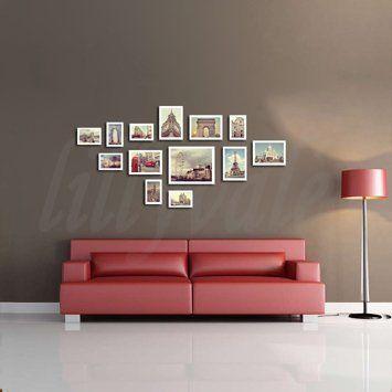 large multi picture photo frame frames wall set 13 pieces whiteamazon