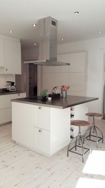 Köksö med röstfri bänkskiva kücheninsel mit arbeitsplatte in edelstahl