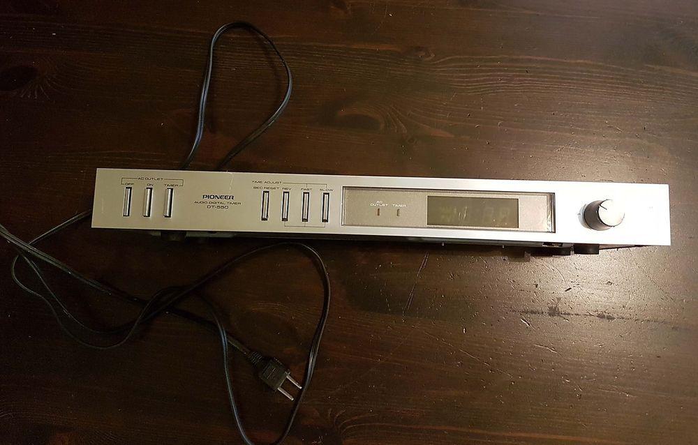Pioneer dt-540 Audio Digital timer blue line vintage 1983