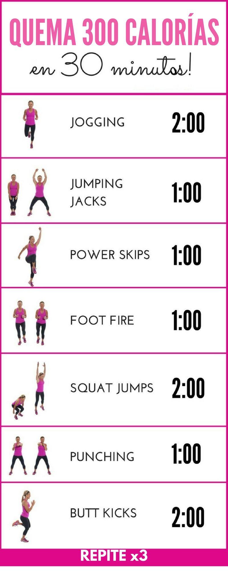 Ejercicios para quemar calor as en poco tiempo ejercicios pinterest - Plan de entrenamiento en casa ...