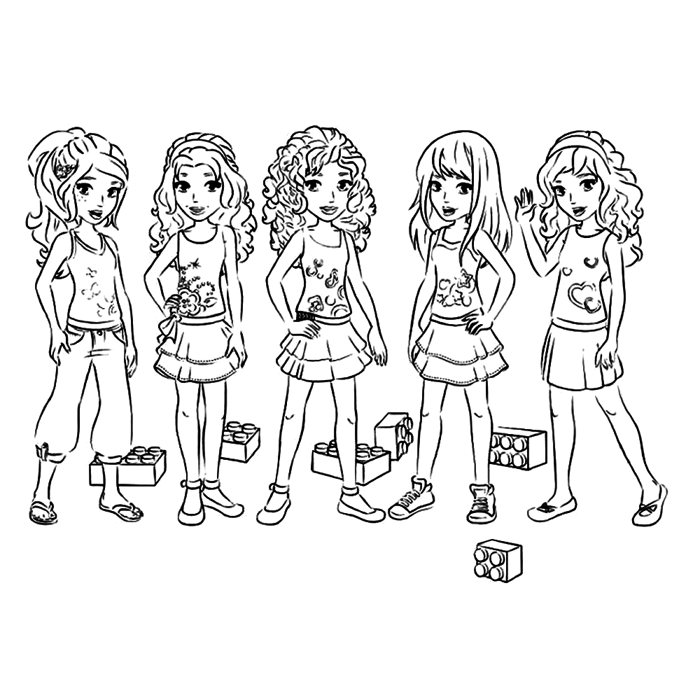 Free coloring pages lego friends - Print This Lego Friends Coloring Sheet
