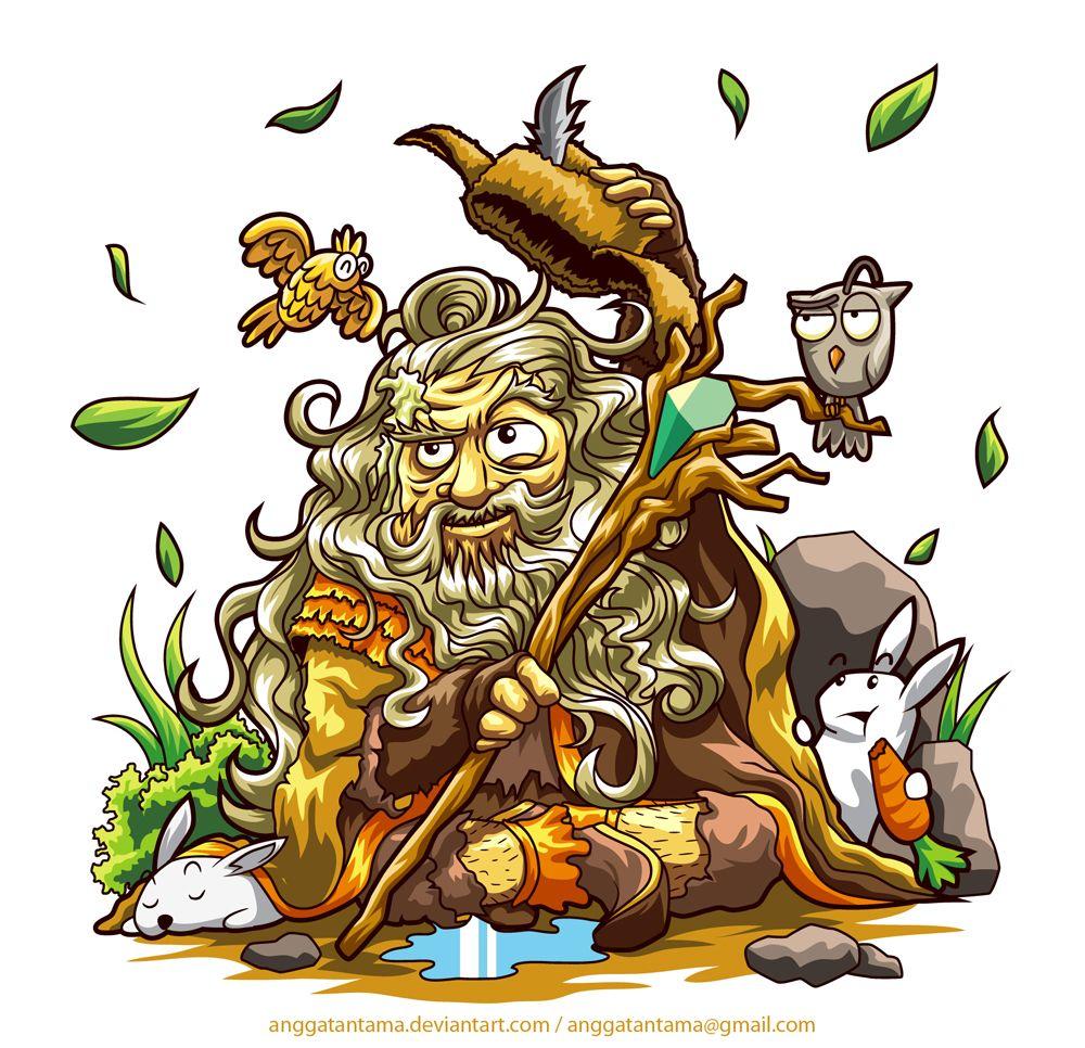 Hobbit gmail theme - Radagast Vector Illustration Graphicdesign Hobbit Radagast Fanart Rabbit
