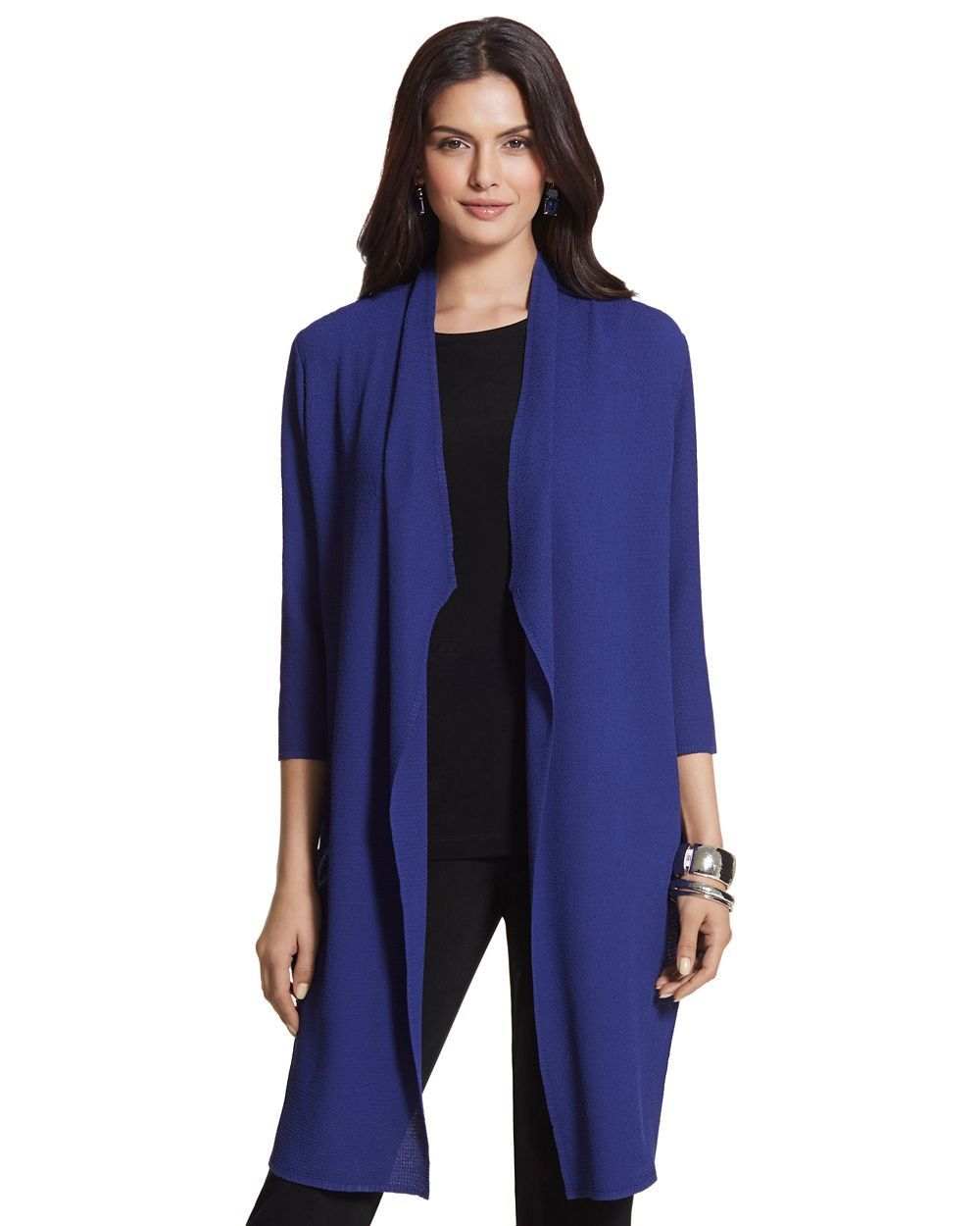 5ce55ce668 Chico s Women s Travelers Collection Crushed Jacket