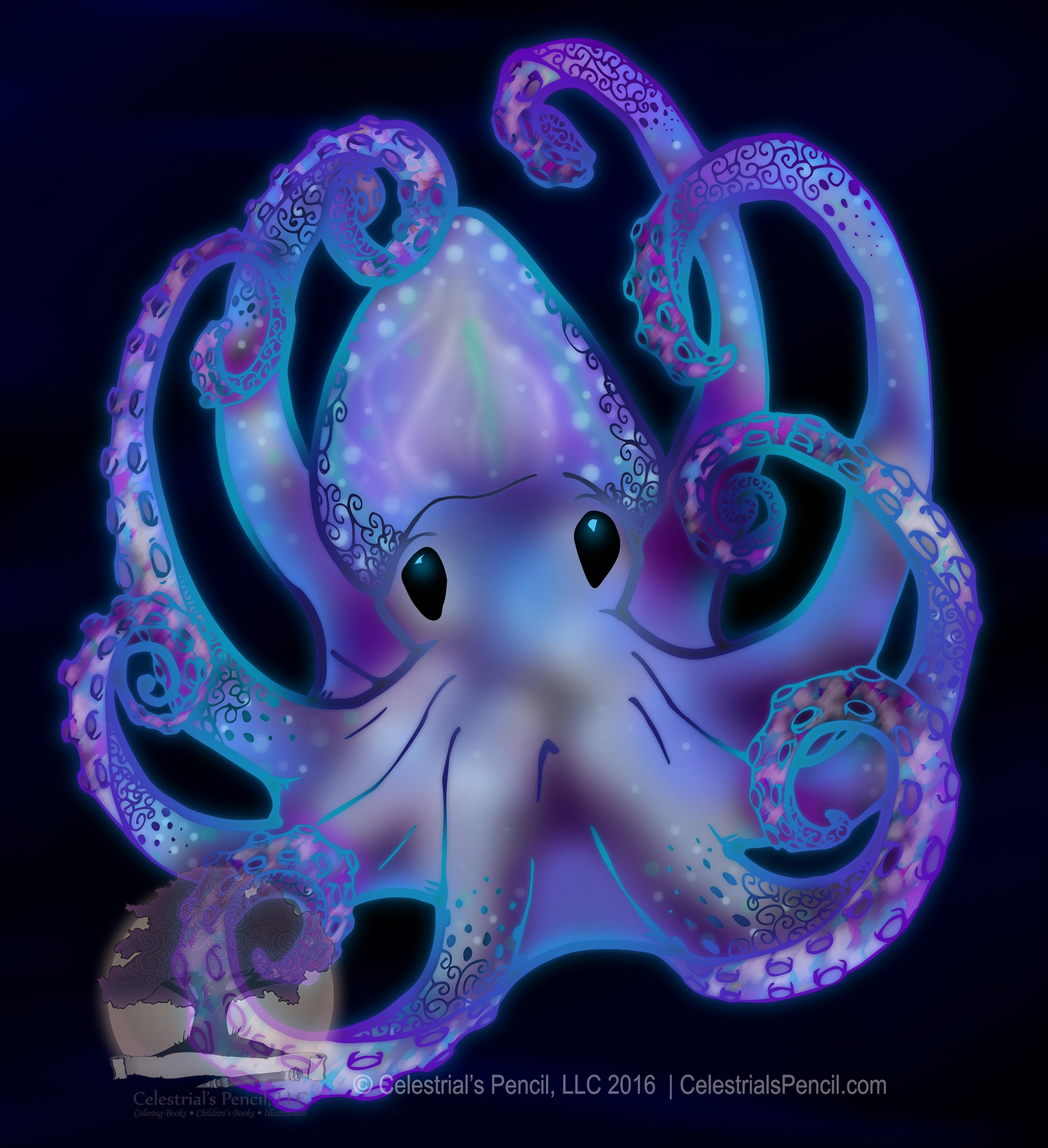 Octo Bioluminescent #Octopus #Sealife #Ocean #Beach Bioluminescent ...