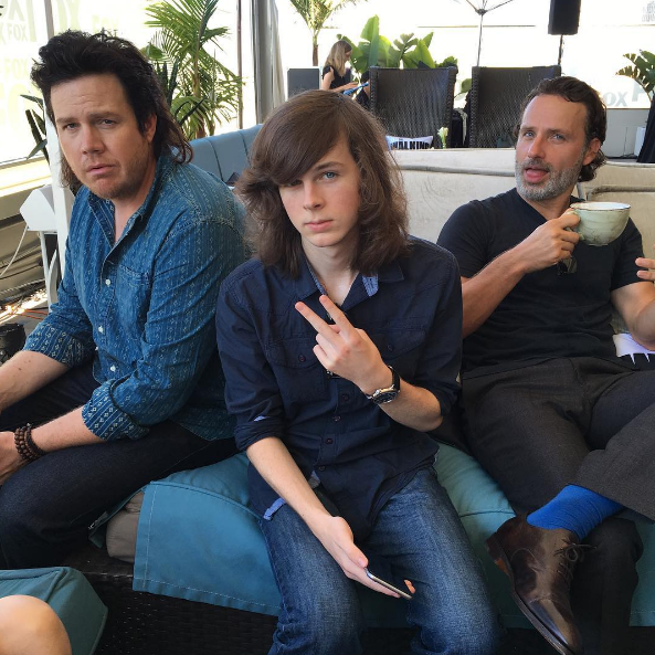 """Eugene, Carl, and Rick looking clean for once. 