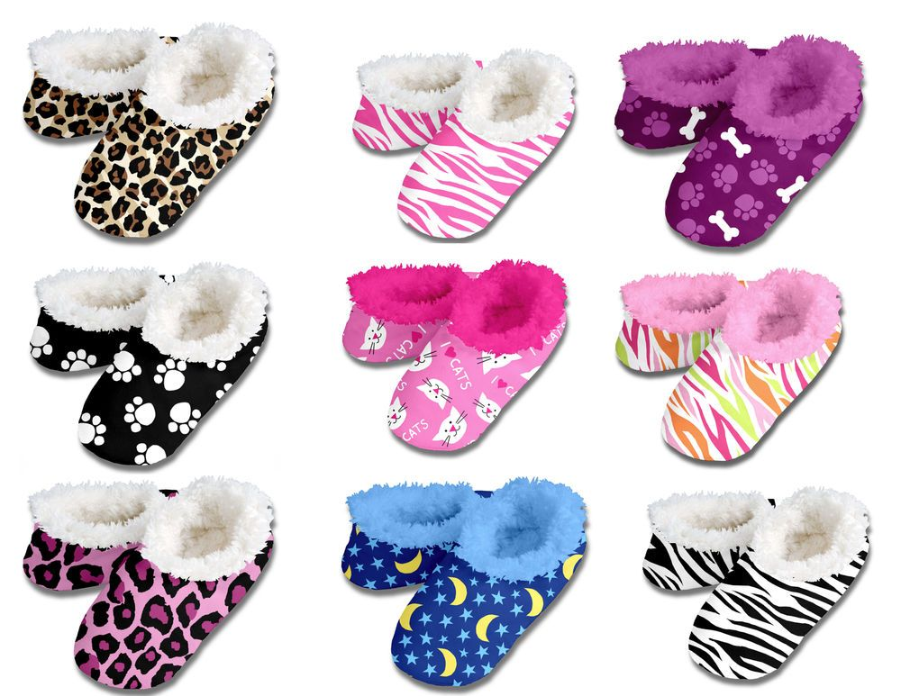 New+Snoozies+Slippers+Women+Fuzzy+House+Shoes+No+Skid+#Snoozies+# ...