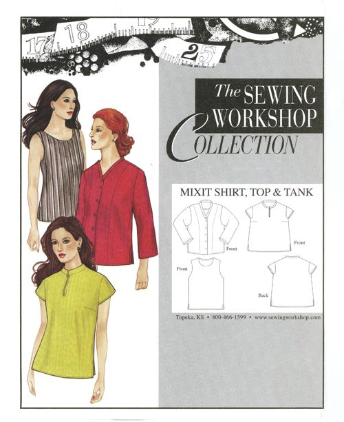 Sewing Workshop Collection Mixit Shirt Top Tank Mrr Good In