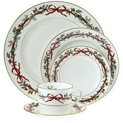 Royal Worcester Holly Ribbons Bone China 5 Piece Place Setting by Royal Worcester Our Christmas china  sc 1 st  Pinterest & Royal Worcester Holly Ribbons | u0027Tis The Season For Holiday ...
