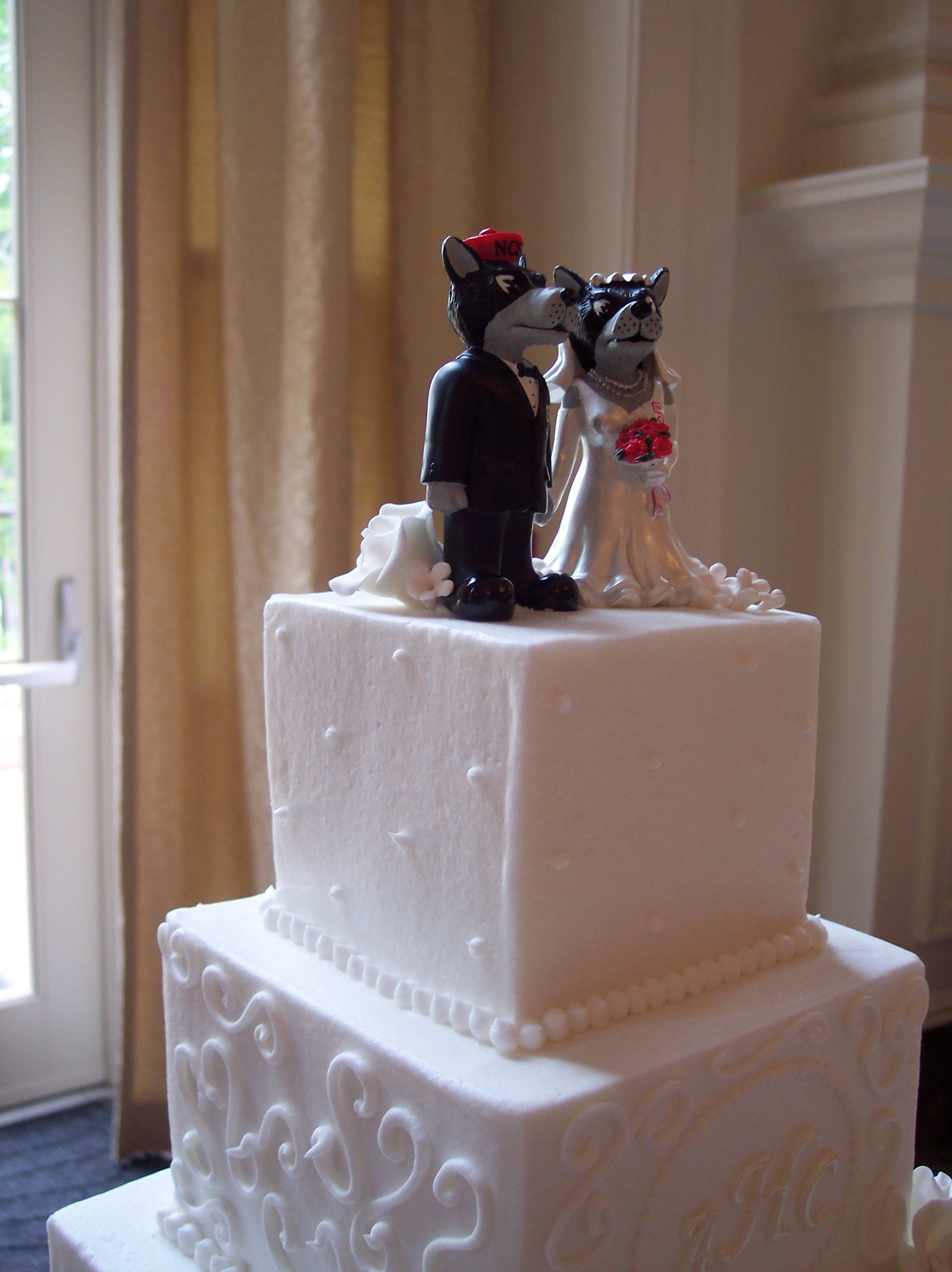 Monogrammed Cake And Nc State