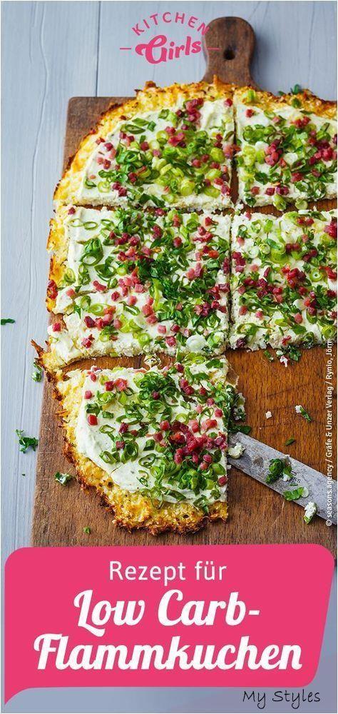 Recipe for low carb tarte flambée #fitness #studio